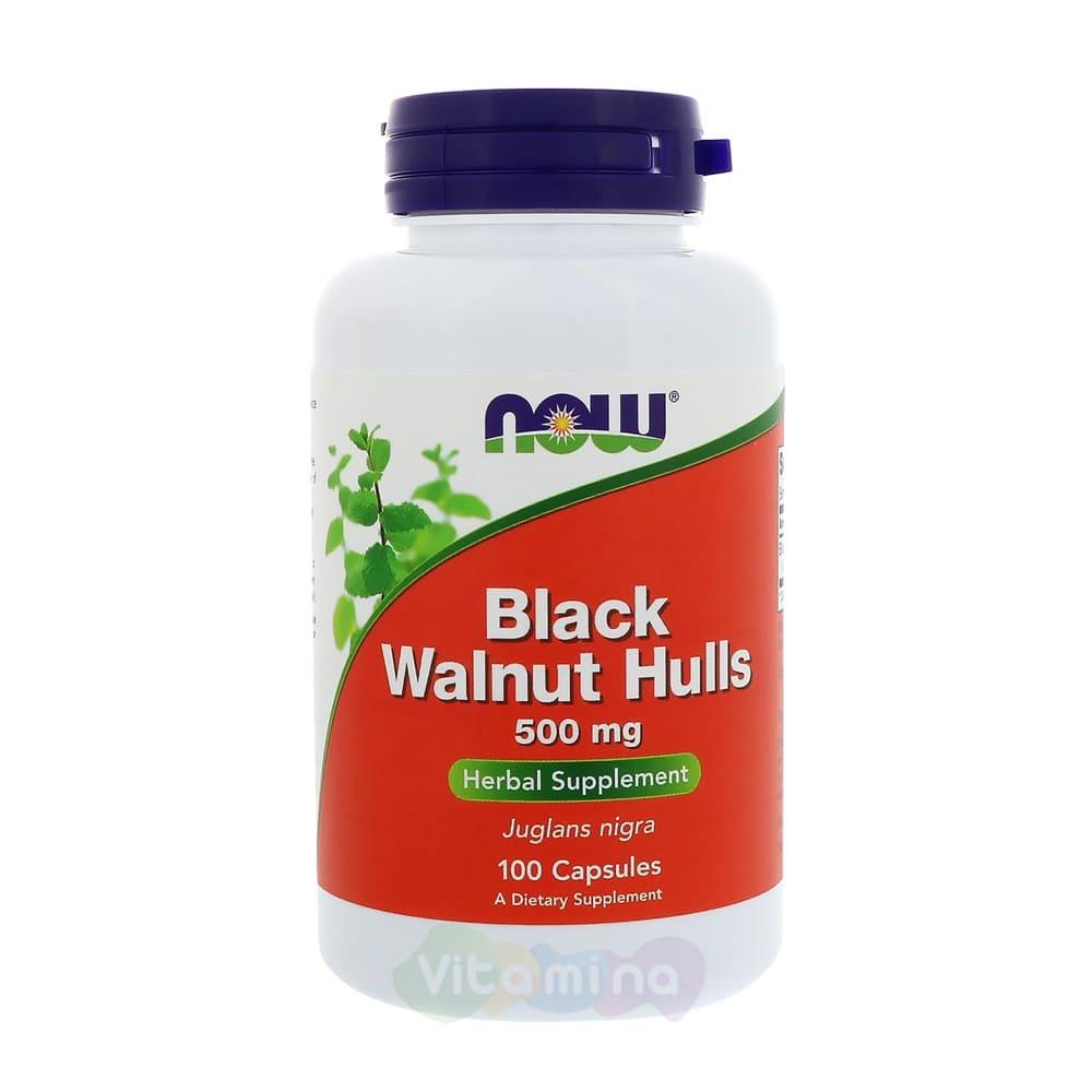 NOW Black Walnut Hulls 500 мг 100 капс.
