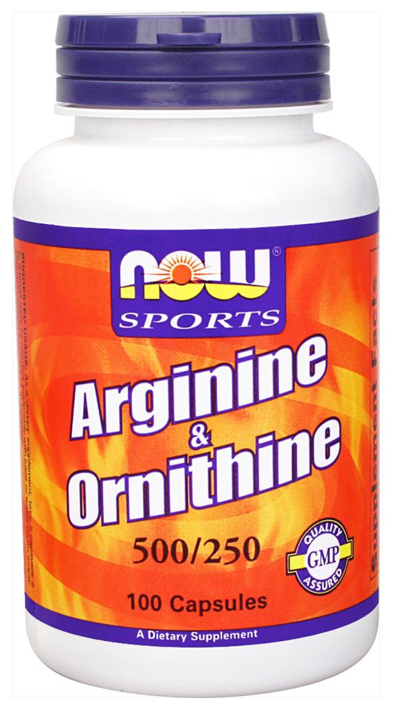 NOW Arginine & Ornithine 100 кап.