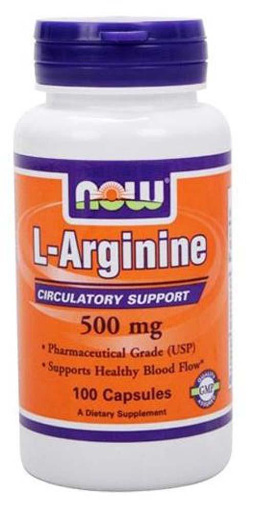 NOW L-Arginine 500 mg 100 кап.