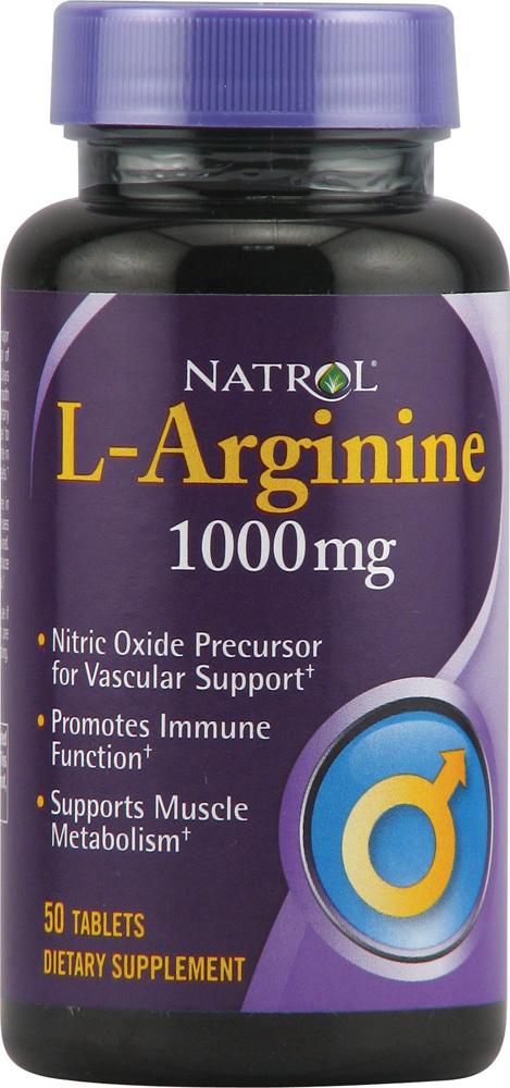 NATROL L-Arginine 1000 мг 50 таб.