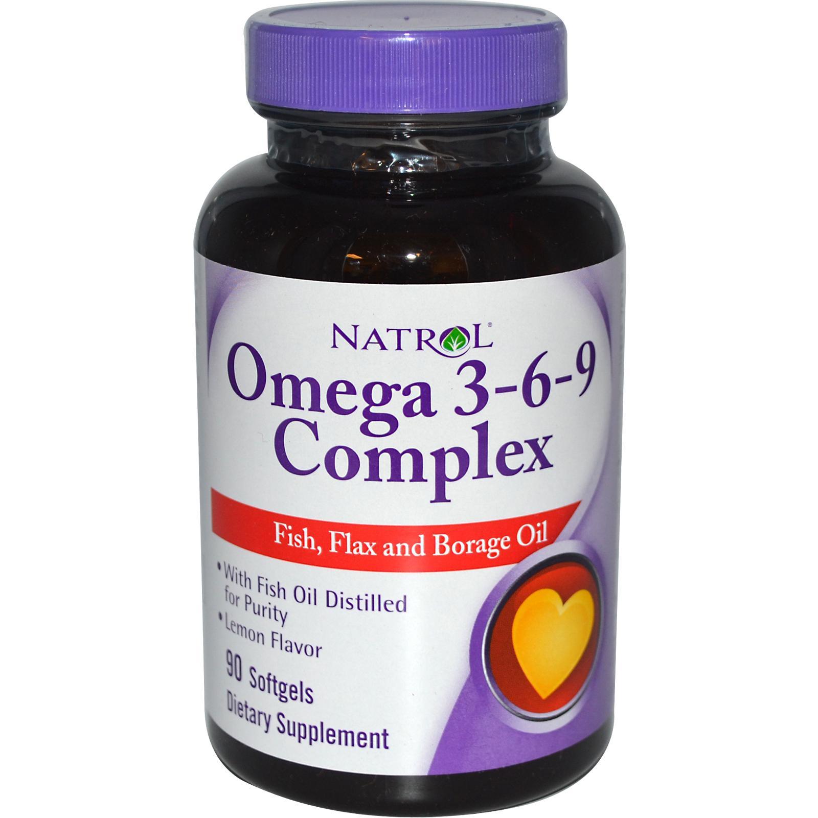 NATROL Omega 3-6-9 Complex 90 кап.