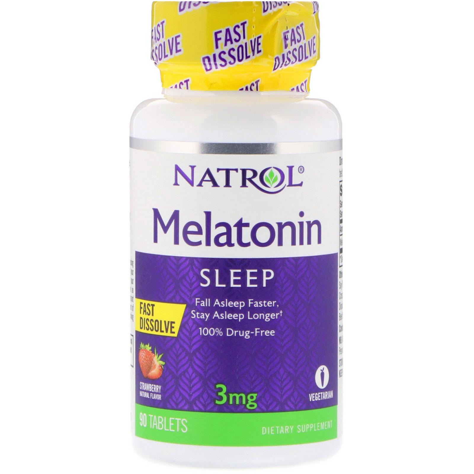 NATROL Melatonin Fast Dissolve 3 мг. 90 таб.