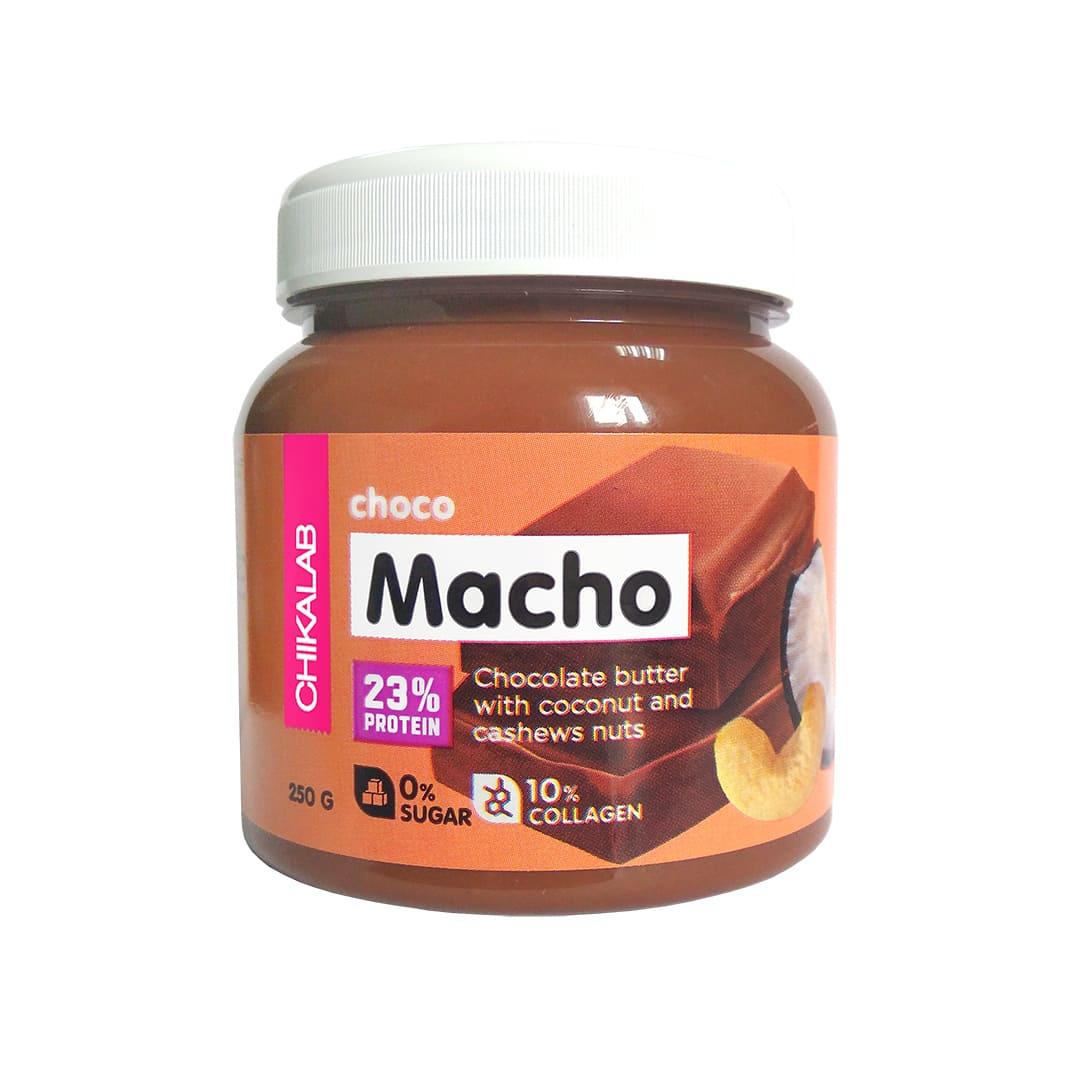CHIKALAB Шоколадная паста с кокосом и кешью CHOCO MACHO 250 гр.