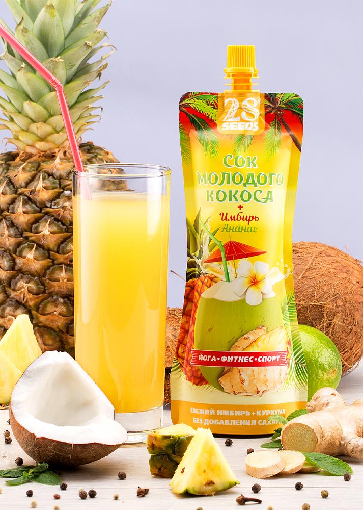 28 SEEDS сок кокоса + 250 мл