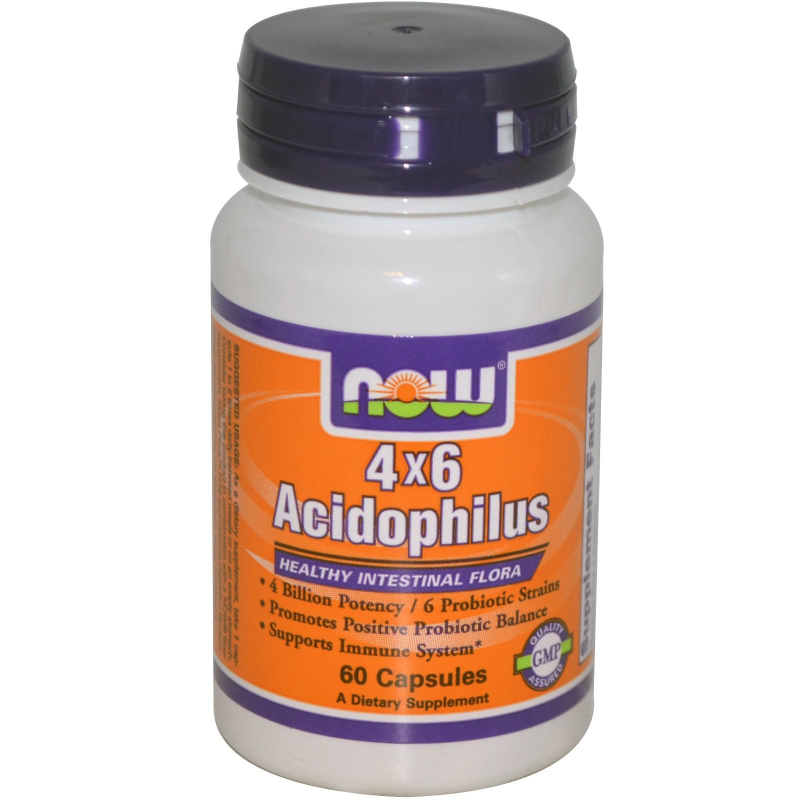 NOW 4x6 Acidophilus 60 кап.