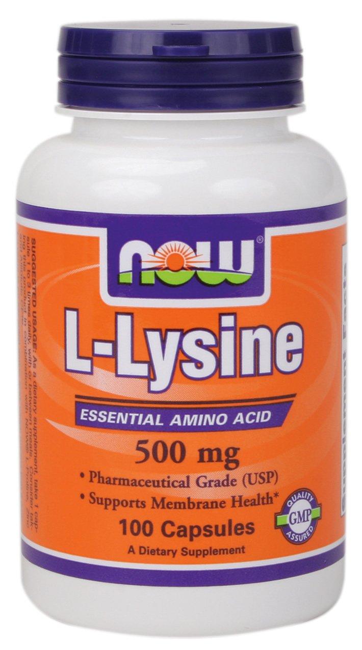 NOW L-Lysine 500 мг 100 кап.