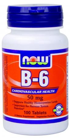NOW B-6 50 мг 100 таб.