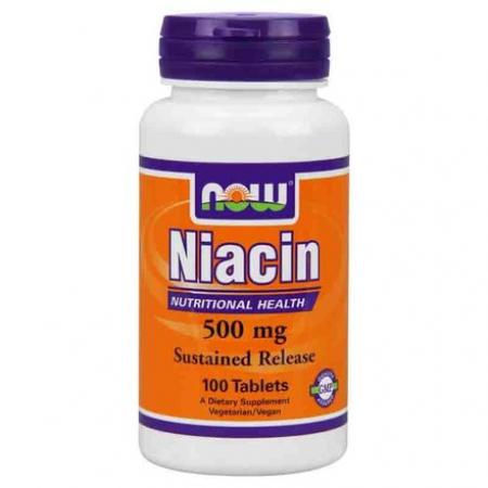 NOW Niacin 500 mg 100 кап.
