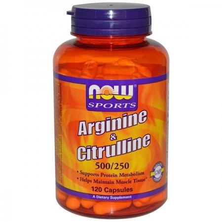 NOW Arginine & Citrulline 500/250 120 кап.