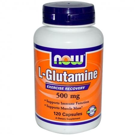 NOW L-Glutamine 500 mg 60 кап.