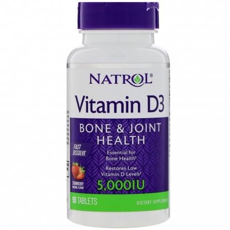 NATROL Vitamin D-3 5000 мкг 90 таб