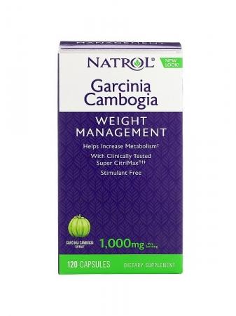 NATROL Garcinia Cambogia Pure Super CitriMax 500 мг 120 кап.