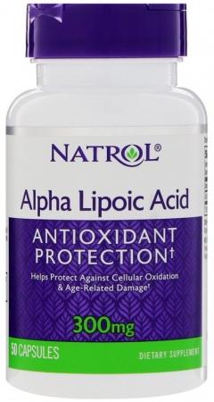 NATROL Alpha Acid (альфа-липоевая кислота) 300 мг 50 кап.