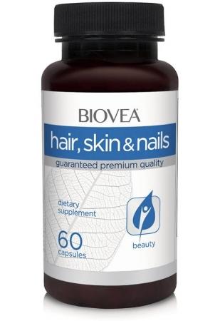 BIOVEA Skin Hair Nails с лютеином 60 кап.
