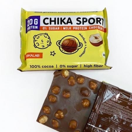 CHIKALAB Шоколад молочный с фундуком 100 гр