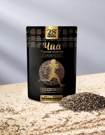 28 SEEDS семена чиа черные 200 гр
